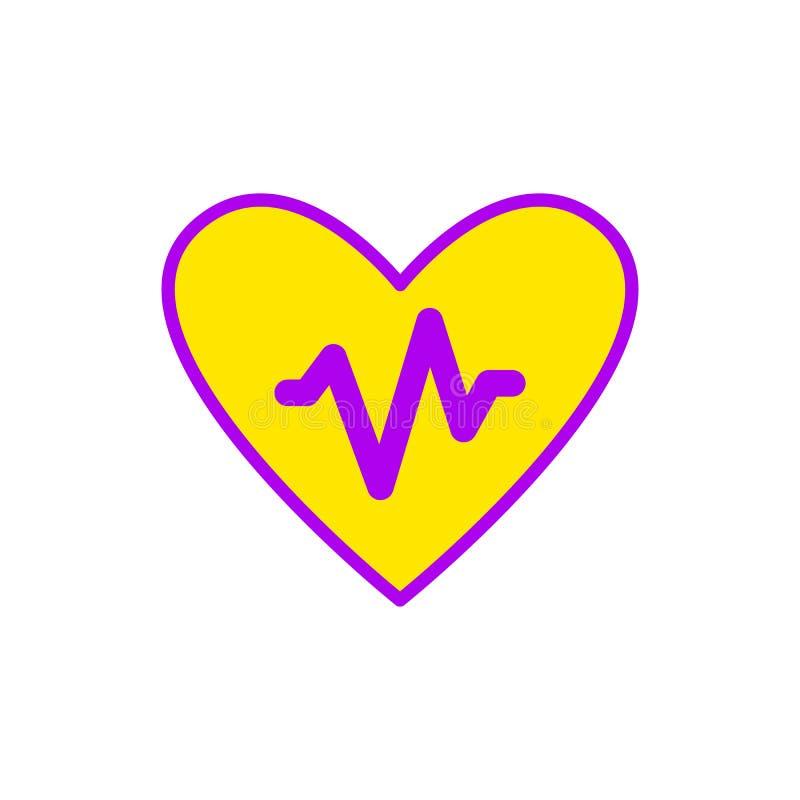 Ilustração lisa de um ícone do departamento de cardiologia ilustração do vetor