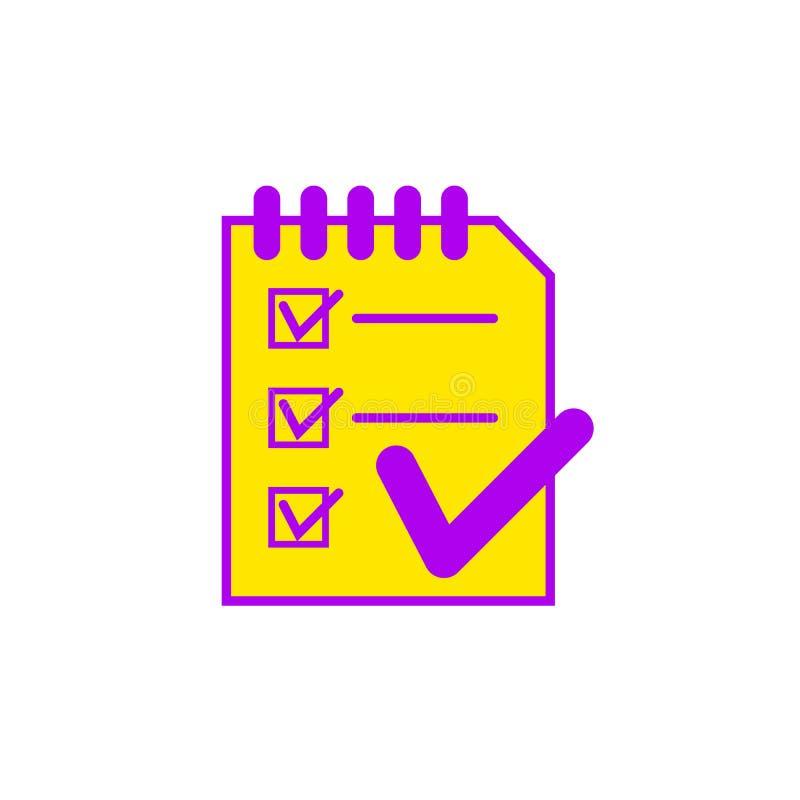 Ilustração lisa de uma prancheta, ícone do vetor para o design web ilustração royalty free