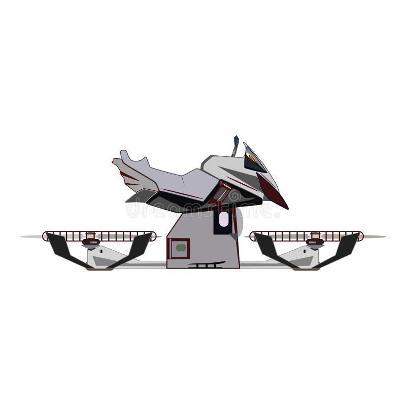 Ilustração lisa de voo do vetor da bicicleta do pairo ilustração royalty free