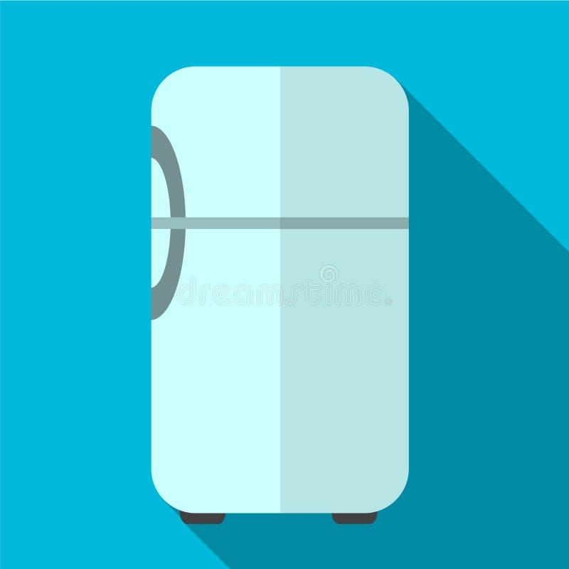 Ilustração lisa do ícone do refrigerador ilustração royalty free