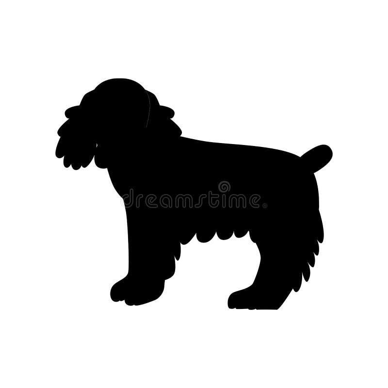 Ilustração lisa do animal de estimação de cocker spaniel ilustração stock