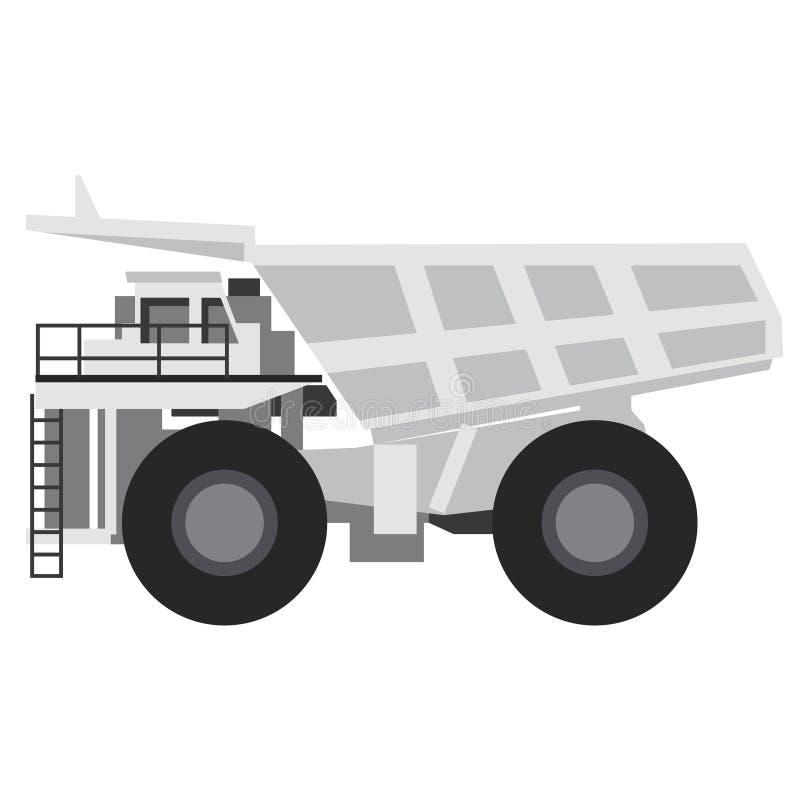 Ilustração lisa do caminhão de descarregador ilustração do vetor