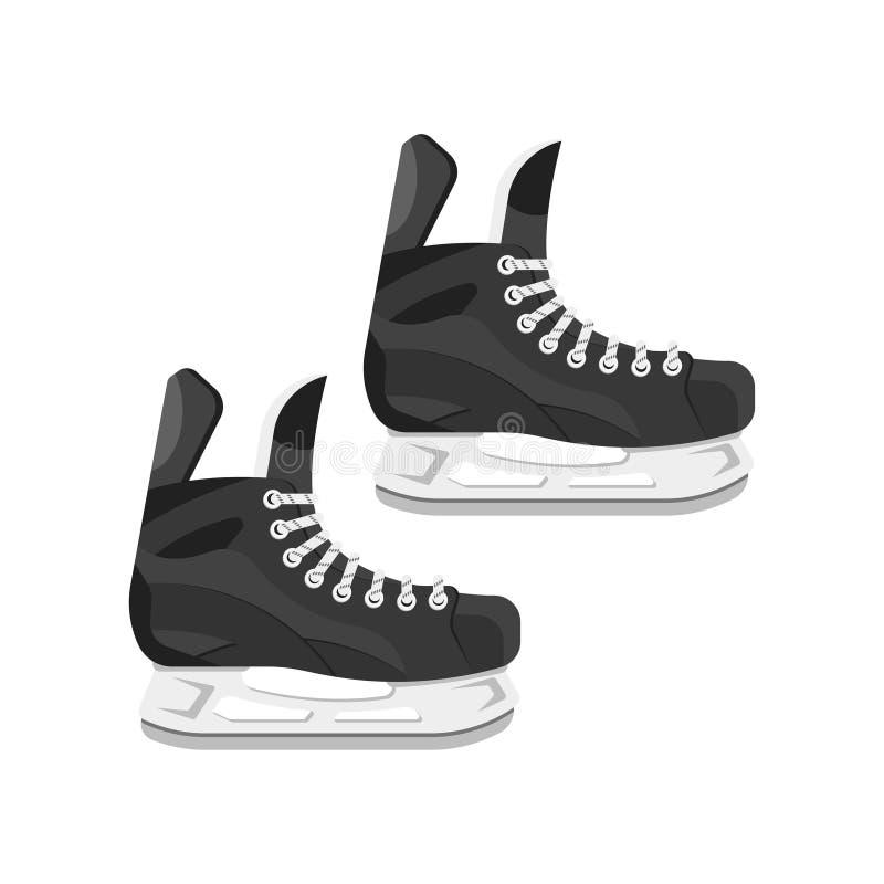 Ilustração lisa do estilo do vetor dos patins ilustração do vetor