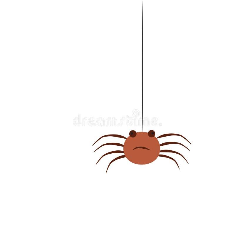 Ilustração lisa do estilo do vetor da aranha Ícone para a Web Isolado no fundo branco ilustração do vetor