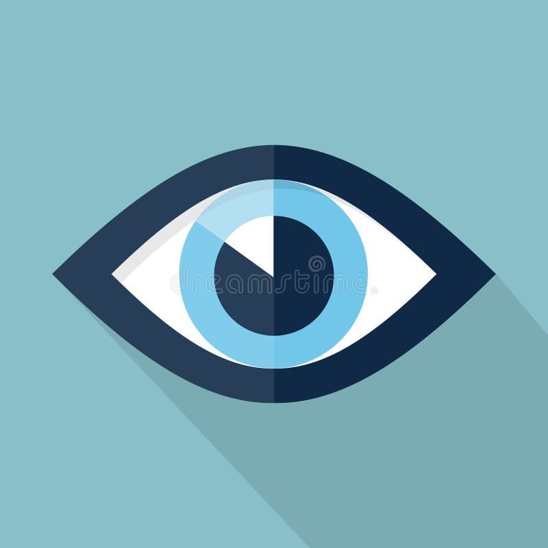 Ilustração lisa do olho ilustração do vetor