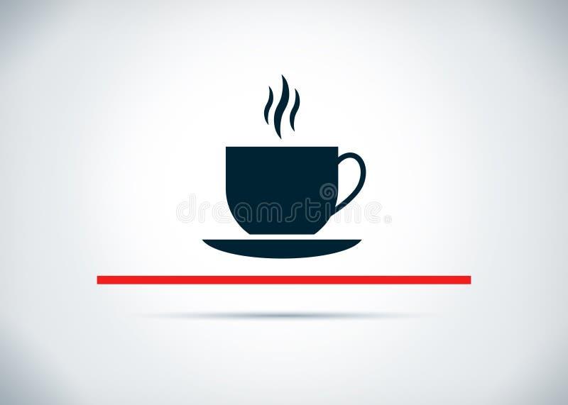 Ilustração lisa do projeto do fundo do sumário do ícone do copo de café ilustração do vetor