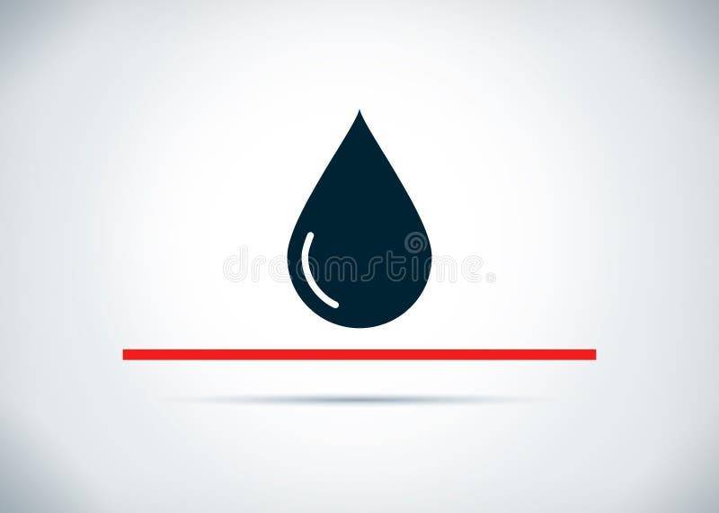 Ilustração lisa do projeto do fundo do sumário do ícone da gota da água ilustração do vetor