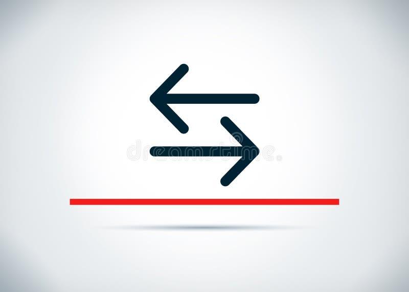 Ilustração lisa do projeto do fundo do sumário do ícone da seta de transferência ilustração stock