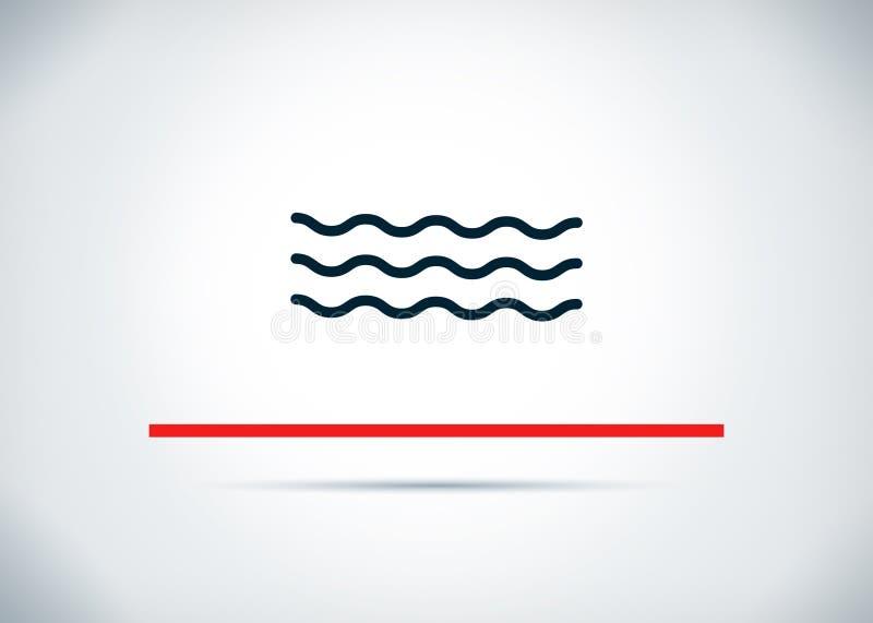 Ilustração lisa do projeto do fundo do sumário do ícone das ondas do mar ilustração do vetor