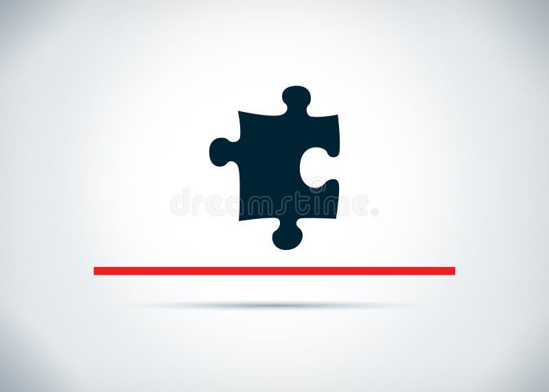 Ilustração lisa do projeto do fundo do sumário do ícone do enigma ilustração do vetor
