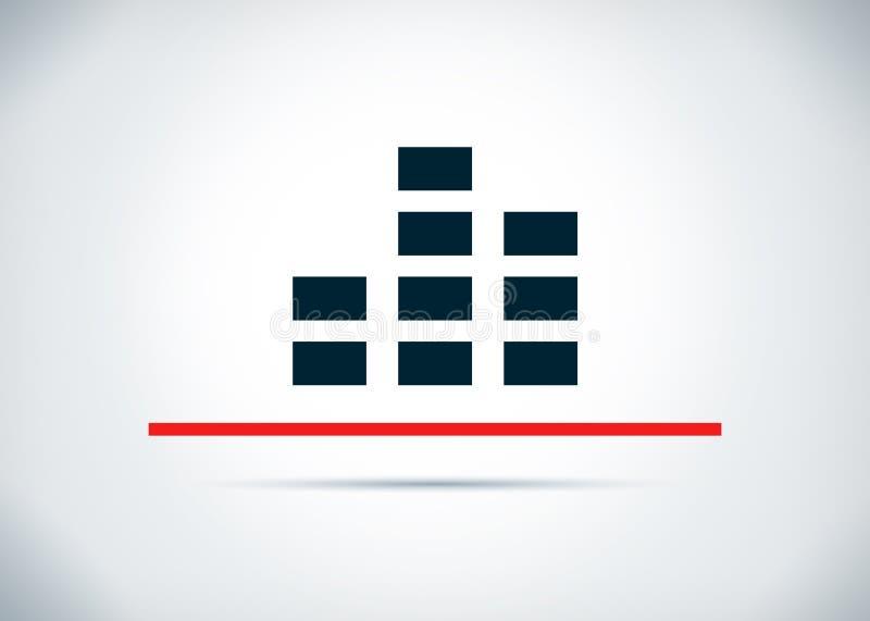 Ilustração lisa do projeto do fundo do sumário do ícone do equalizador ilustração stock