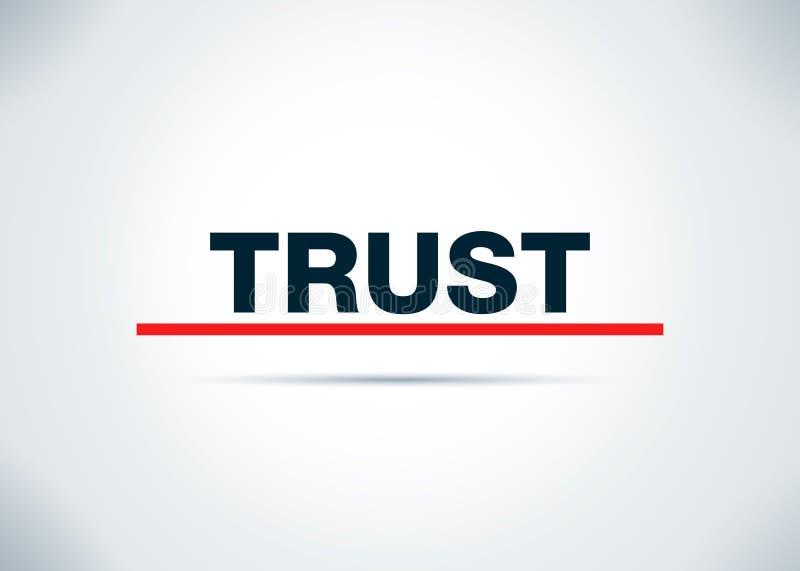 Ilustração lisa do projeto do fundo do sumário da confiança ilustração royalty free
