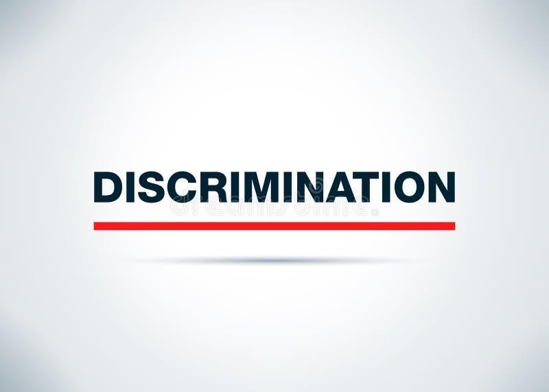 Ilustração lisa do projeto do fundo do sumário da discriminação ilustração stock