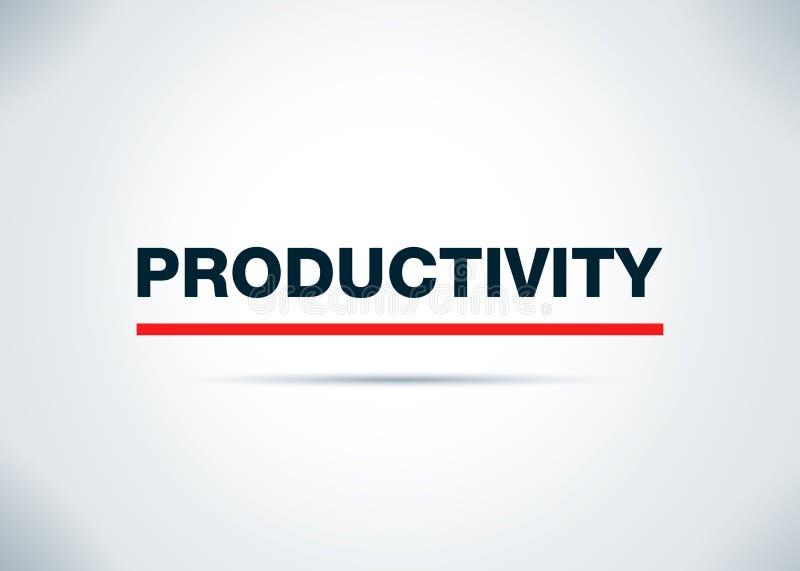 Ilustração lisa do projeto do fundo do sumário da produtividade ilustração do vetor