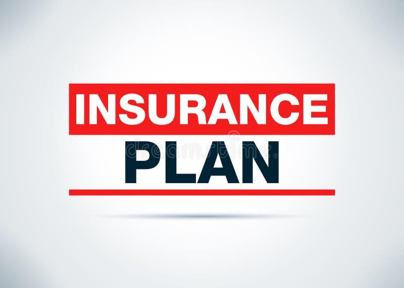 Ilustração lisa do projeto do fundo do sumário do sistema de seguro ilustração do vetor