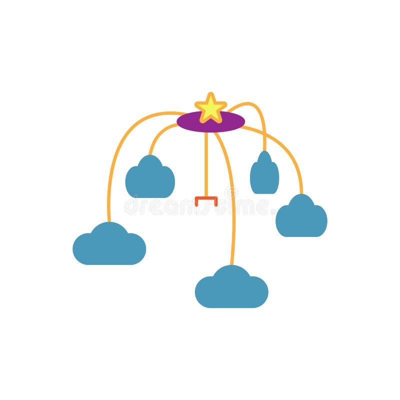 Ilustração lisa do projeto do vetor do ícone do brinquedo da ucha do bebê ilustração royalty free