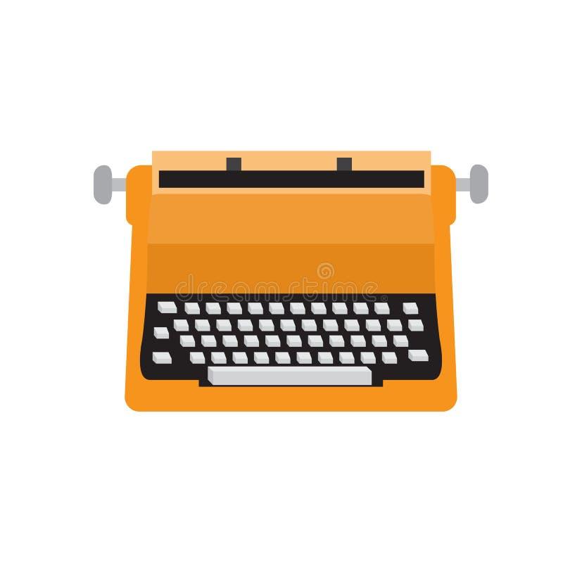 Ilustração lisa do projeto do vetor do ícone da máquina de escrever velha ilustração stock