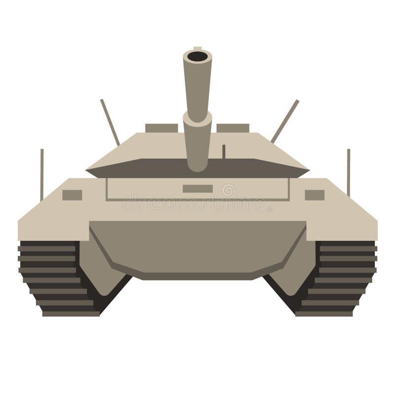 Ilustração lisa do tanque ilustração do vetor