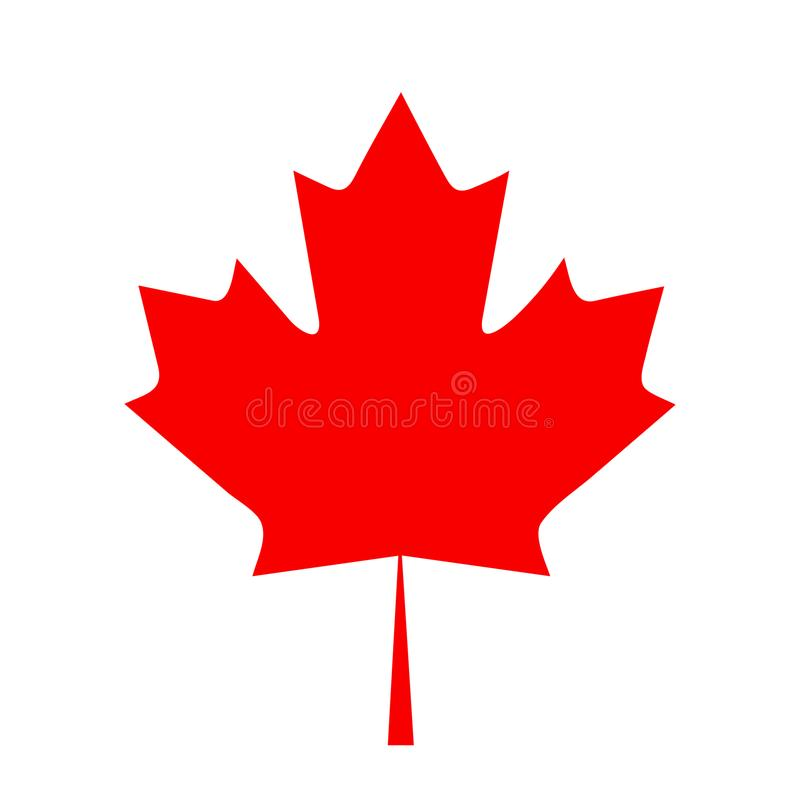Ilustração lisa do vetor do ícone da folha de bordo da bandeira de Canadá do projeto ilustração do vetor