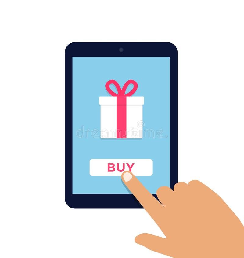 Ilustração lisa do vetor do comércio eletrónico ilustração stock
