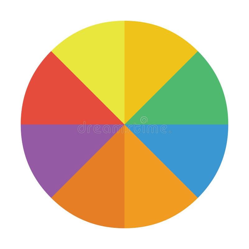 Ilustração lisa do vetor da cor do ícone da carta de torta ilustração stock