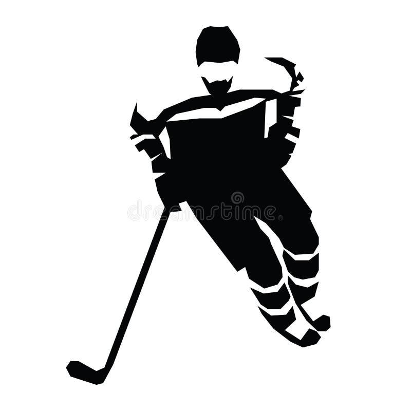 Ilustração lisa do vetor do hóquei em gelo Jogador do hóquei ilustração do vetor