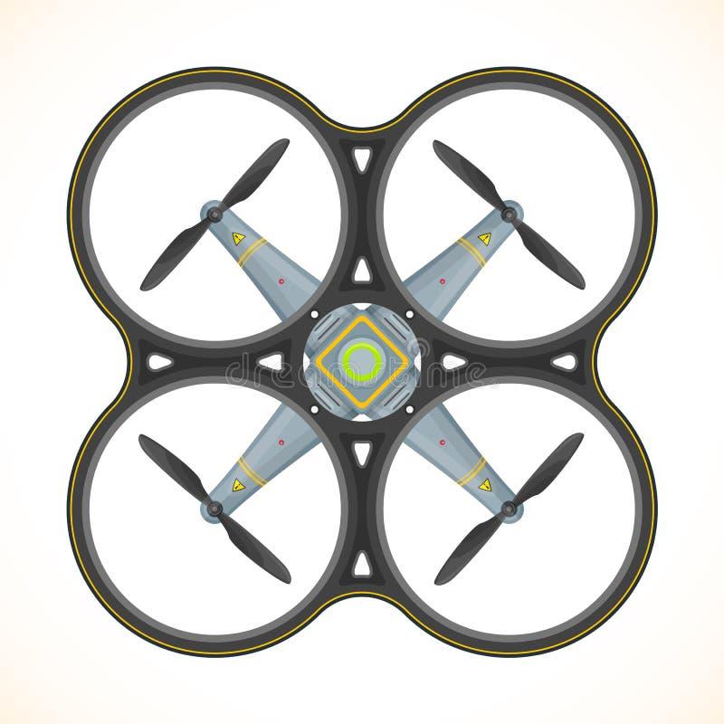 Ilustração lisa do zangão do quadcopter do vetor