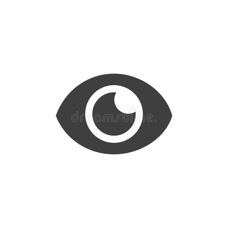 Ilustração lisa simples do ícone médico da lente de olho ilustração do vetor
