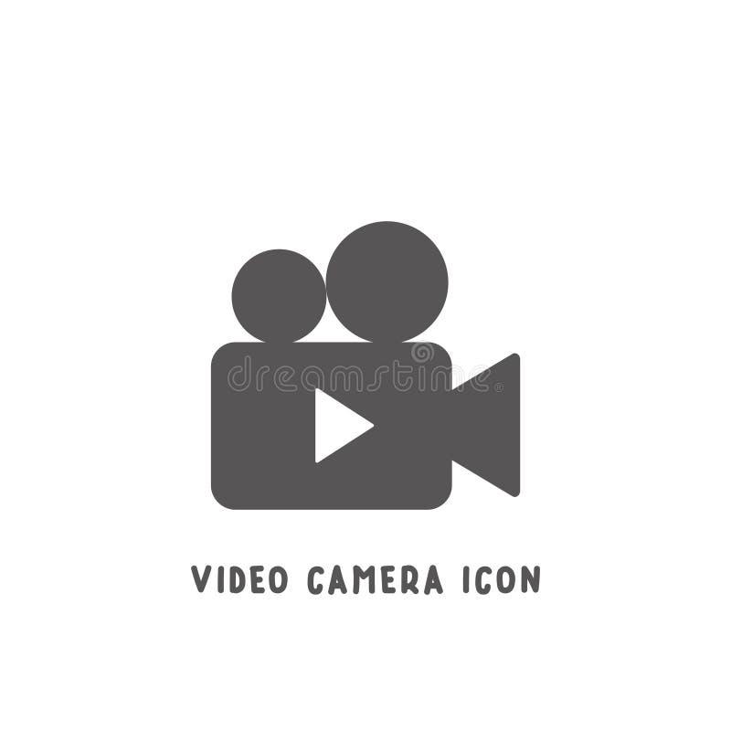 Ilustração lisa simples do vetor do estilo do ícone da câmara de vídeo ilustração royalty free