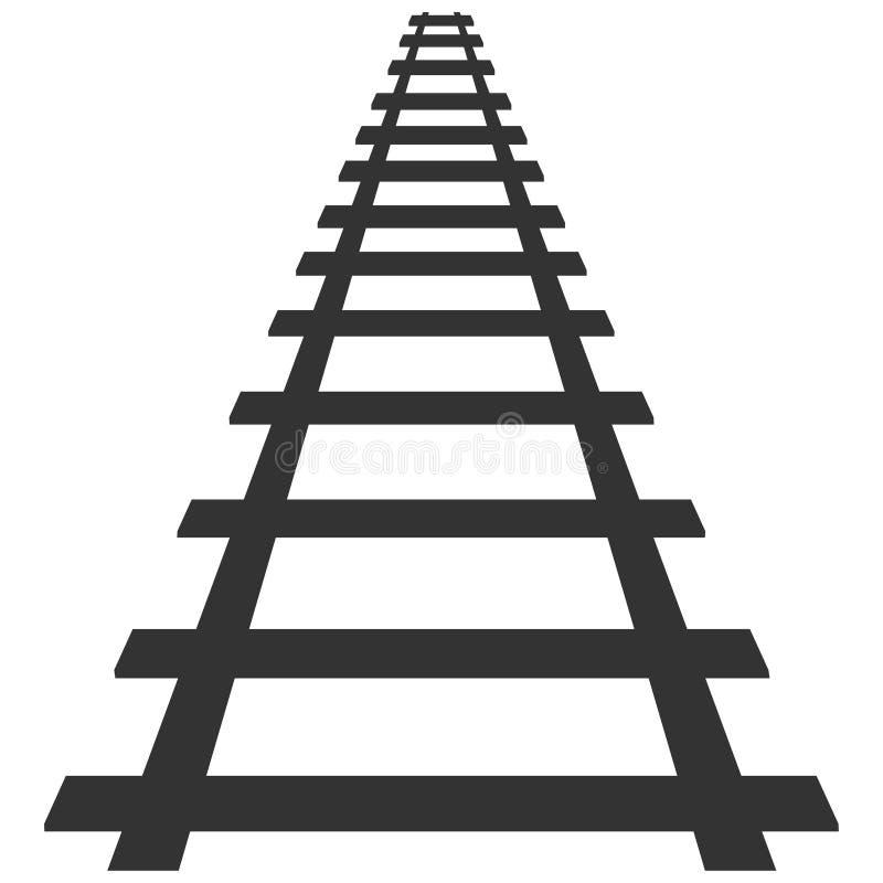 Ilustração locomotiva da rota do trânsito do fundo do transporte de trilho da trilha da silhueta da estrada de ferro ilustração stock