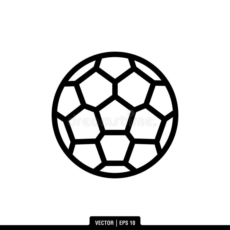 Ilustração Logo Template do vetor do ícone da bola de futebol ilustração do vetor