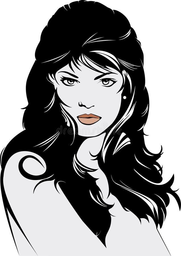 Download Ilustração Longa Do Cabelo Da Mulher Bonita Ilustração do Vetor - Ilustração de olhos, cosmético: 26513405