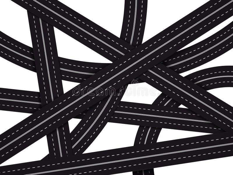 Ilustração louca da estrada ilustração stock