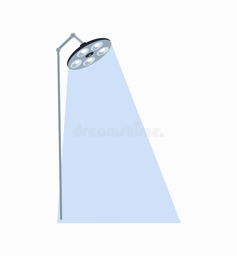 Ilustração luminosa de Lamp Icon Vetora do cirurgião ilustração stock