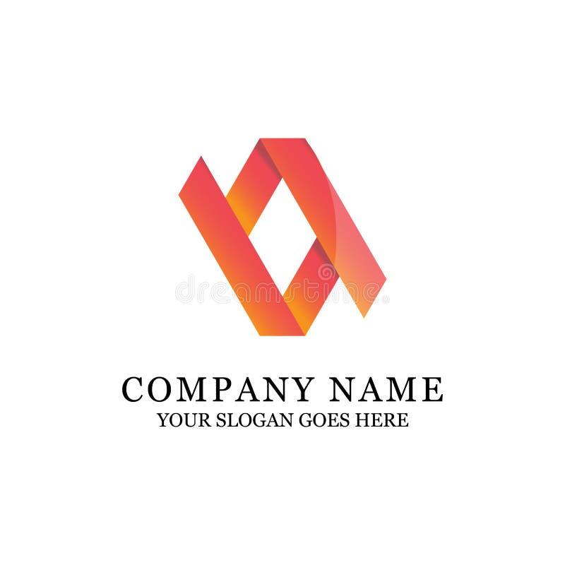 Ilustração luxuosa do logotipo do símbolo abstrato do inclinação ilustração stock