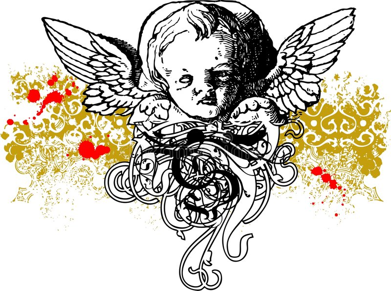 Ilustração má do Cherub ilustração royalty free