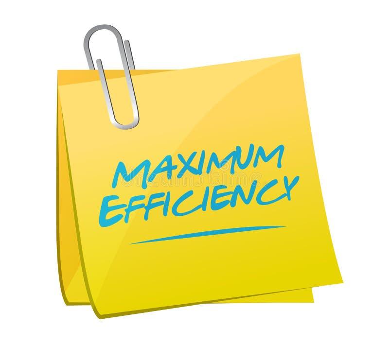 ilustração máxima do cargo da eficiência ilustração stock