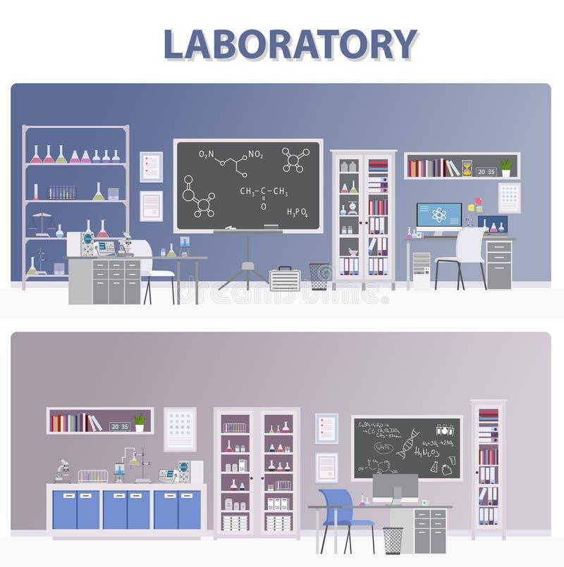 Ilustração médica do laboratório - O arquivo do vetor fotografia de stock royalty free