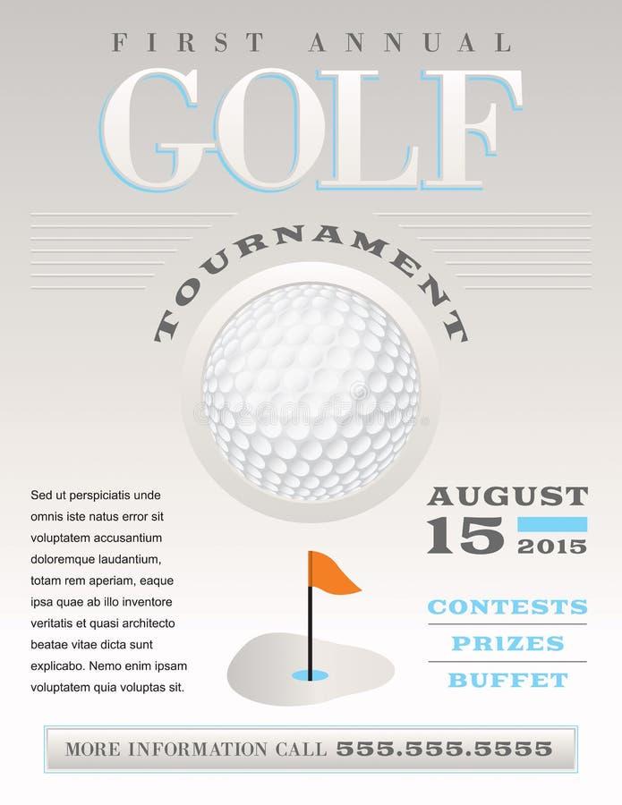 Ilustração mínima do competiam do golfe ilustração royalty free