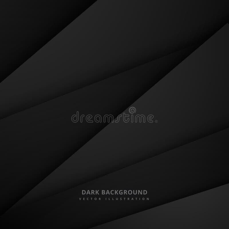 Ilustração mínima do projeto do vetor do fundo do preto escuro ilustração stock