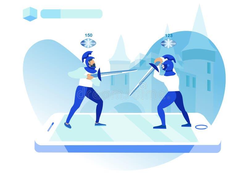 Ilustração móvel do vetor da aplicação do jogo ilustração do vetor