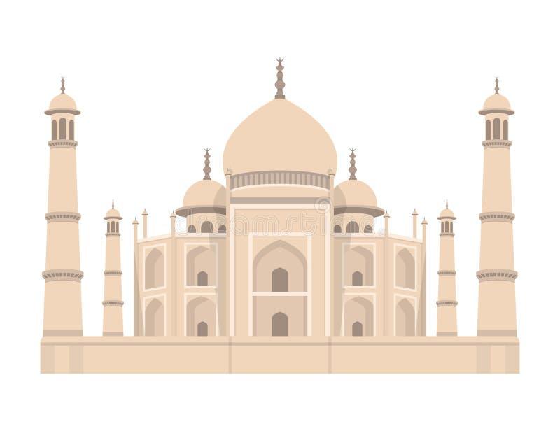 Ilustração mahal do projeto do vetor da Índia de Taj Arte do conceito ilustração do vetor