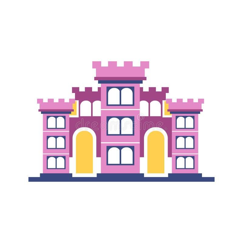 Ilustração majestosa cor-de-rosa do vetor da construção do palácio ilustração royalty free