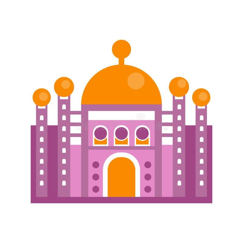 Ilustração majestosa roxa do vetor da construção do palácio ilustração stock