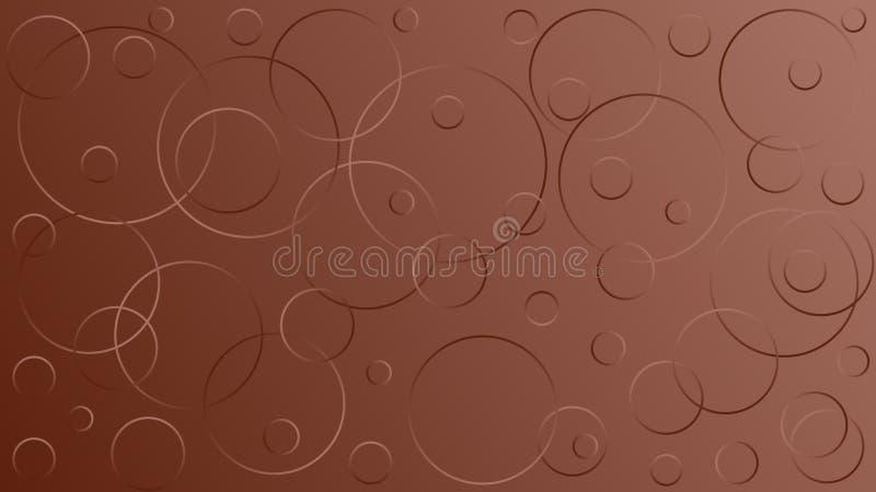 Ilustra??o marrom brilhante do vetor, que consiste em c?rculos de tamanhos diferentes ilustração stock