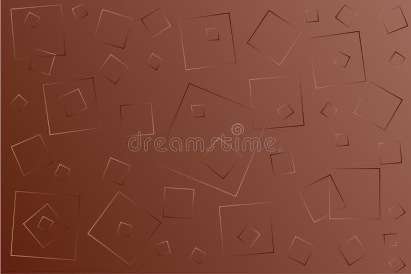 Ilustra??o marrom brilhante do vetor, que consiste em quadrados de tamanhos diferentes ilustração royalty free