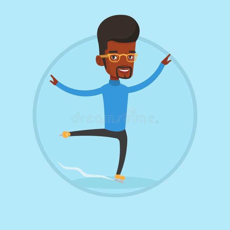 Ilustração masculina do vetor do patinador artística ilustração do vetor