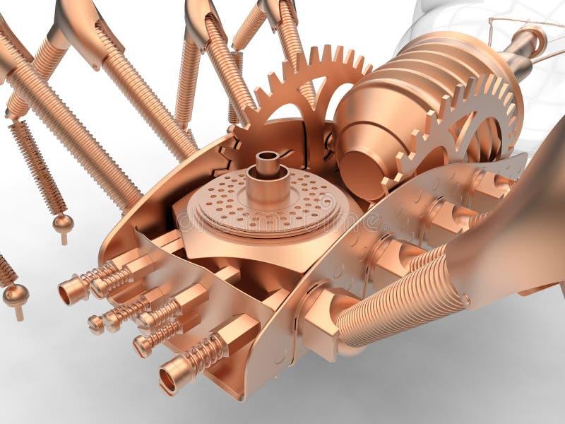 Ilustração mecânica da aranha do tanoeiro ilustração do vetor