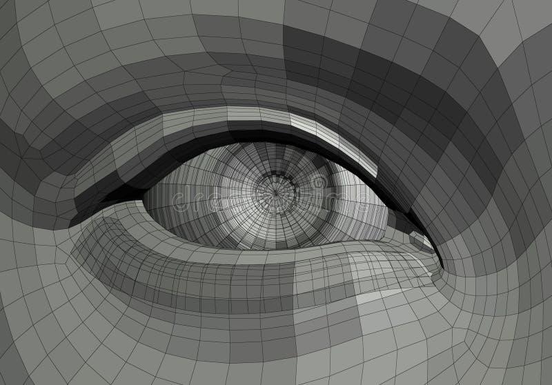 Ilustração mecânica do olho ilustração do vetor