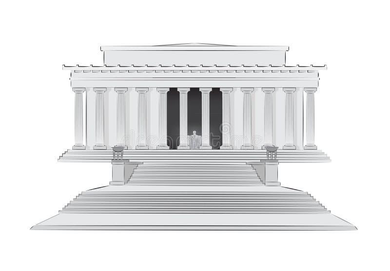 Ilustração memorável do vetor de Lincoln ilustração royalty free